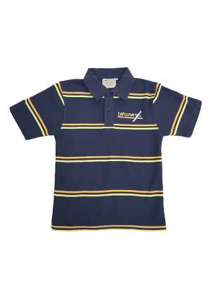 Tahuna Normal Intermediate School Polo Navy/Orange/Lime